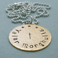 Valar Morghulis Coin Necklace - Hand Stamped Brass - Game of Thrones