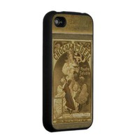 Vintage Art Chocolat Ideal by Alphonse Mucha Iphone 4 Case from Zazzle.com