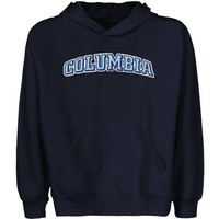 NCAA Columbia University Lions Youth Arch Applique Pullover Hoodie - Navy Blue (Small)