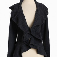 brandee ruffle knit cardigan at ShopRuche.com
