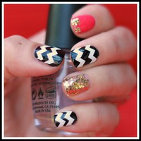 """Nailed It"" Chevron Nail Decals: Upgrade Your Manicure"