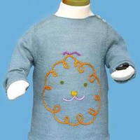 Embroidered Zapata Sweater: Tiddley Widdley Toy & Book Store