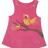 "Decaf Plush ""Birds"" A-Line Dress"