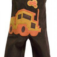 "Decaf Plush ""Truck"" Romper or Overalls"