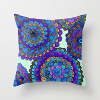 Collide Throw Pillow by Erin Jordan | Society6
