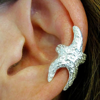 Starfish Sterling Ear Cuff