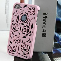 Rose Cut Out Iphone 4 Case (light P.. on Luulla
