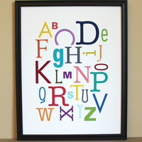 Multi-Color Alphabet Art Print, 11x.. on Luulla