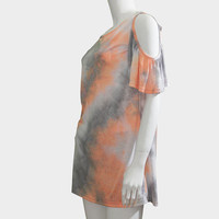 Tie-Dye Shoulder-Free Top | Late Manta