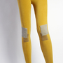 Cord Patch Leggings Yellow | Late Manta