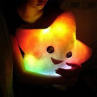 Amazon.com: Smile Star Design Color Changing LED Light Toss Thrown Pillow White: Everything Else
