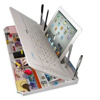 Cool Stuff - The Restt Computer Keyboard - 6 Products in ONE! iPad, Tablet Stand, Pen Stand, iPhone, cell phone Stand, More..