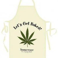 ROCKWORLDEAST - Stonerware, Apron, Let&#x27;s Get Baked