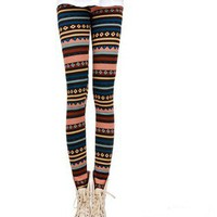 fashion stripe thickened leggins