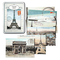 Z Gallerie - Glitter Vintage Paris Postcards
