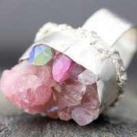 Custom Made Mixed Crystal Ring in Sterling Silver by Specimental