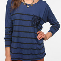 Truly Madly Deeply Printed Pocket Stripe Tee
