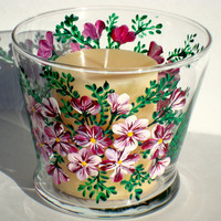 Candle Holder/ Candy Dish/ Glass Potpourri Bowl