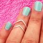 My  2  Above Knuckle Ring - 2 Chevron Above The Knuckle Ring - Silver Chevron Knuckle Rings - Set of 2 by Tiny Box -