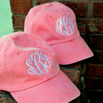 MONOGRAMMED Baseball Hat Cap ASSORTED COLORS - Bridesmaid Gift - Sorority - Greek - Bridal Shower