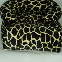 Giraffe Print Couch and Chair Set for 18-Inch Dolls