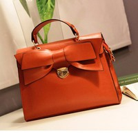 Leather Bow Handbags