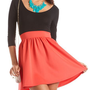 Zip-Back 2-Fer Skater Dress: Charlotte Russe