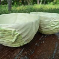 Cabbage Bowl Set of 4 by vegetabowls on Etsy