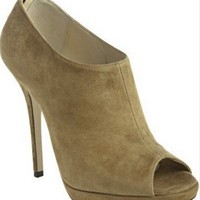 Jimmy Choo whiskey suede Glint peep toe booties - $230.00