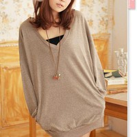 Polished OL Style Korean Style Loose Leisure Hooded Coat: tidestore.com