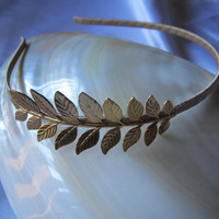 Gold Grecian  leaf Headband for your wedding