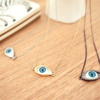 Vintage Evil Eye Pendant Necklace from looback