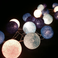 Blue Set tone mixed Hanging stringlights for party and home decoration indoor and outdoor (20 balls/pack)