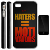 Nike iPhone 4/4s case nike Haters Motivators New Photo on Hard Plastic iPhone Case 4 4S Cover