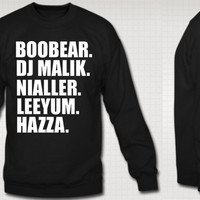One Direction Boys Nick Names Crewneck Sweatshirts