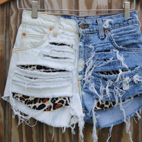 Cheetah Print High Waist Shorts Made To Order