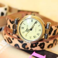 Grace Leopard band Strap cool Wrist Watch