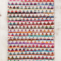 Magical Thinking Triangle Chindi Rag Rug- Multi