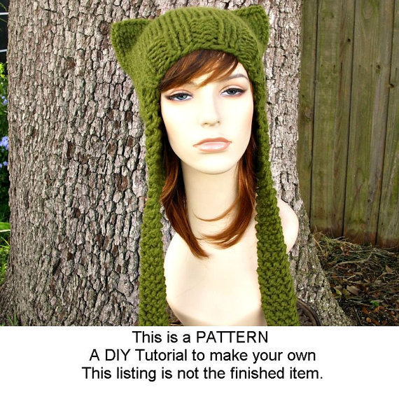 Knitting Pattern - Knit Hat Knitting from pixiebell on Etsy