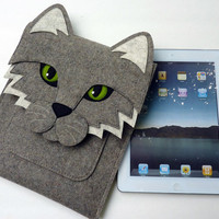 iPad 2 Cat felt sleeve by BoutiqueID on Etsy