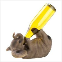 PLAYFUL ELEPHANT WINE BOTTLE HOLDER