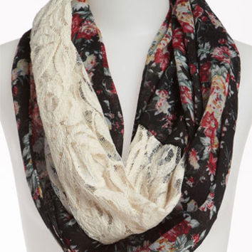 BP. Floral Lace Infinity Scarf | Nordstrom