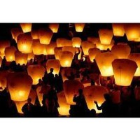 Cool Stuff - 6 Sky Lantern Fireworks White