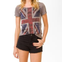 Rhinestoned Union Jack Top