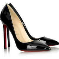 Christian Louboutin Pigalle 120 patent pumps black - $115.00
