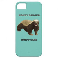 Cockatoo Mint Honey Badger Don&#x27;t Care Pattern iPhone 5 Case