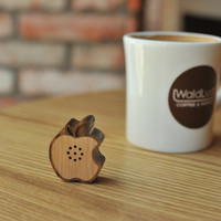 Tiny Wooden Apple Speaker for iPod iPhone Galaxy S by somedayrain