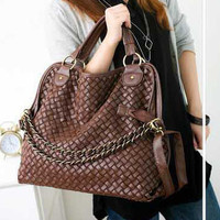 Korean Style Lady Hobo PU Handbag Shoulder Bag