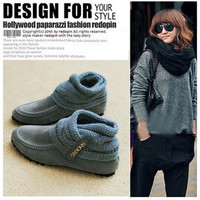 Casual Mix Match Suede Scarf Style Shoes For Women China Wholesale - Everbuying.com