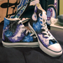 CHRISTMAS SHIPPING- Galaxy Converse High Tops
